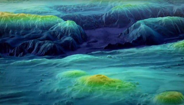 Detalle del fondo oceánico cartografiado por Seabed 2030