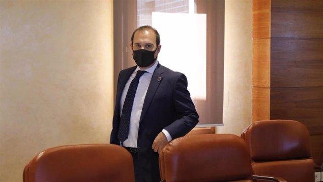 El presidente de las Cortes, Pablo Bellido.