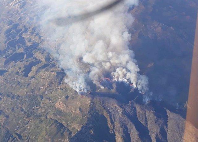 Incendio en Sierra Cabrera, entre Turre y Mojácar (Almería)