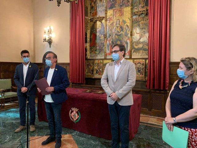 Toni Postius, Miquel Pueyo, Agustí Serra y Judit Grifau