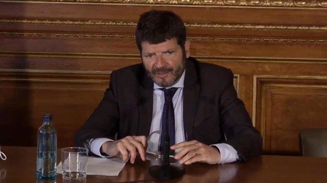 El dirigente de Units y teniente de alcalde de Seguridad y Prevención de Barcelona, Albert Batlle, en una imagen de archivo.