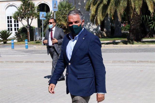El consejero de Presidencia, Administración Pública e Interior de la Junta de Andalucía, Elías Bendodo.