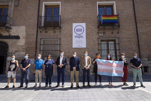 Imagen del acto celebrado en el Palacio de Pimentel con motivo del Orgullo LGBTI.