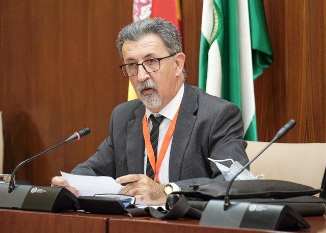 Rafael Carrasco, presidente del Sindicato Médico Andaluz, comparece en el Parlamento andaluz