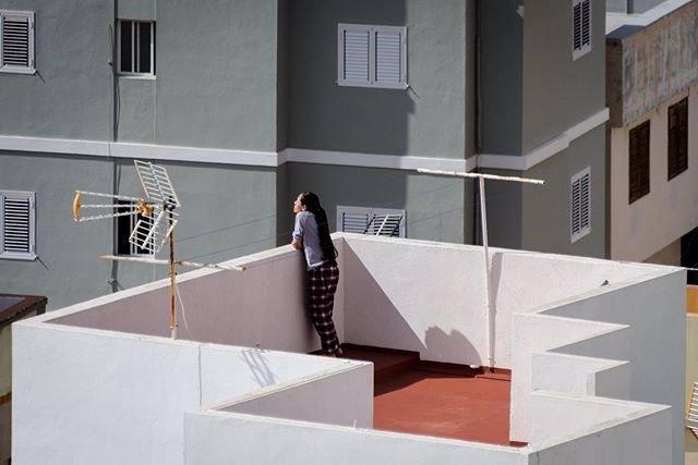Una de las imágenes del certamen 'Phe desde mi balcón', en Santa Cruz de Tenerife