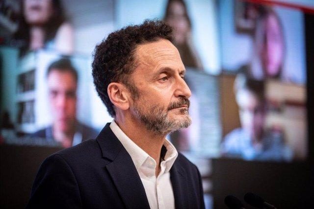 El portavoz adjunto de Ciudadanos en el Congreso de los Diputados, Edmundo Bal, en rueda de prensa en la sede del partido.