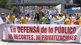Protesta en el Gregorio Marañón