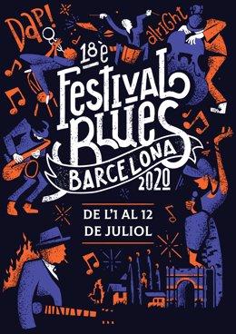 Cartell de la 18a edició del Festival de Blues de Barcelona