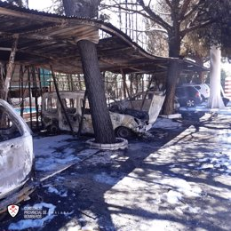 Incendio en el que han intervenido efectivos del Consorcio Provincial de Bomberos