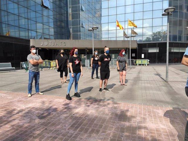 Seis CDR que serán citados en la Audiencia Nacional por la causa por presunto terrorismo en la operación Judas, ante los Juzgados de Sabadell (Barcelona), el 22 de junio de 2020.