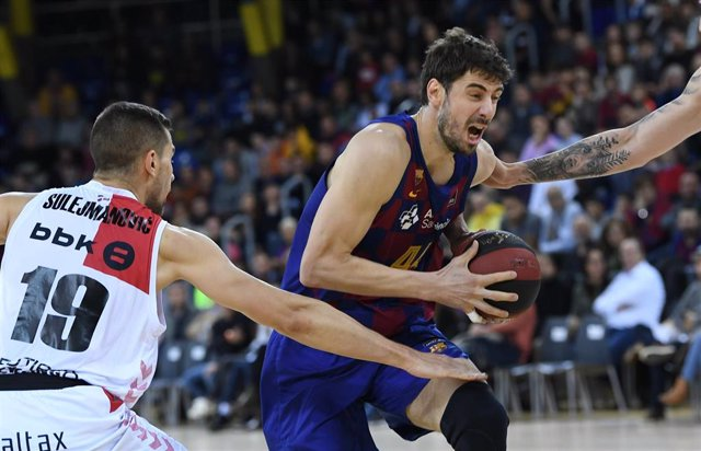 Tomic en el Barcelona - Bilbao Basket