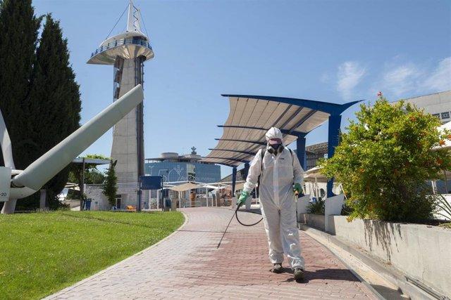 Trabajos preparatorios para la reapertura del Parque de las Ciencias