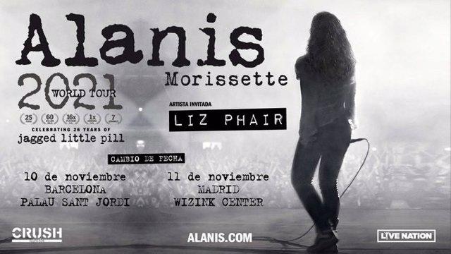 Coronavirus.- Aplazados los conciertos de Alanis Morissette de este octubre a noviembre de 2021