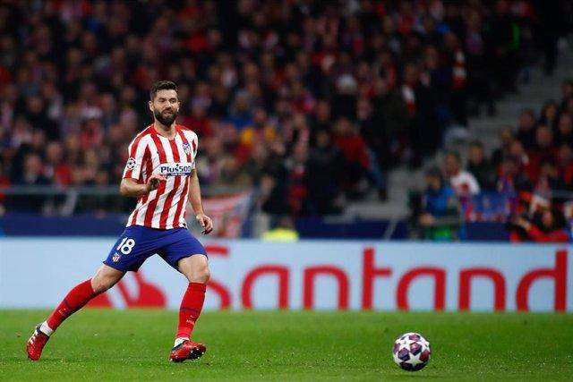 El central del Atlético de Madrid Felipe Monteiro