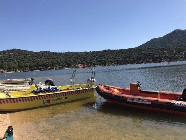 Embarcaciones del 112 de la Comunidad de Madrid