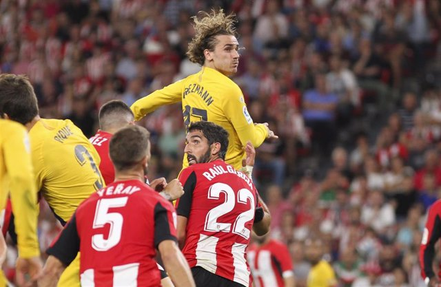 Griezmann of Barcelona in action during La Liga Spanish championship, , football match between Athletic de Bilbao and Barcelona, August 16th, in Nuevo San Mames Stadium, Bilbao, Spain.