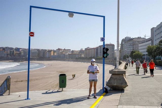 Sistema de control de acceso a las playas de A Coruña