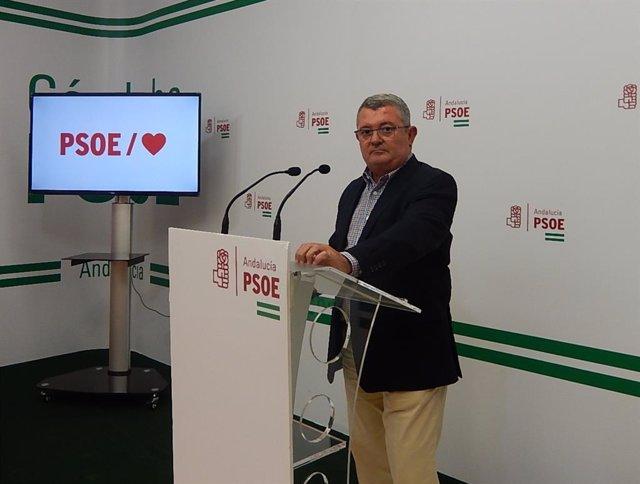 El portavoz del PSOE-A en la Comisión de Salud y Familias del Parlamento de Andalucía, Jesús María Ruiz.