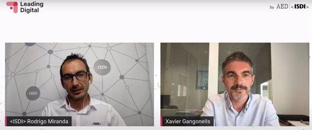 Rodrigo Miranda (ISDI) y Xavier Gangonells (AED)