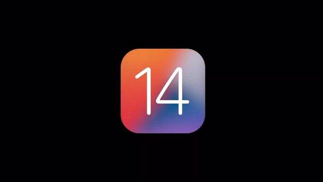 Logo de iOS 14.