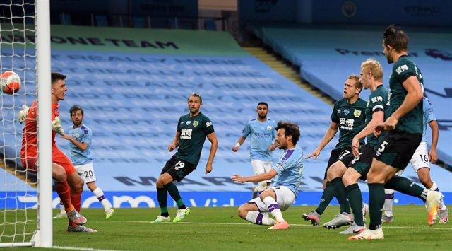 David Silva anota en el Manchester City-Burnley