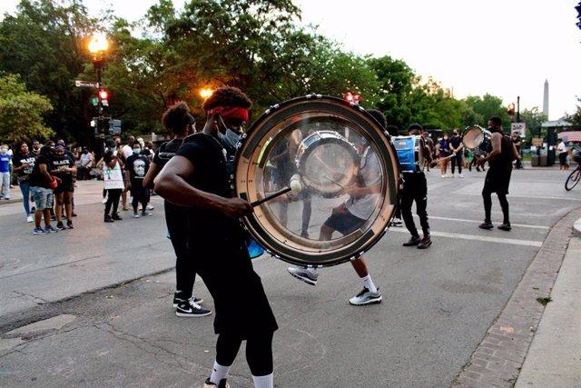 Protestas en el marco del movimiento 'Las vidas negras importan' en Washington, Estados Unidos.