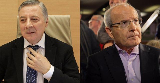 Los exministros socialistas José Blanco y José Montilla