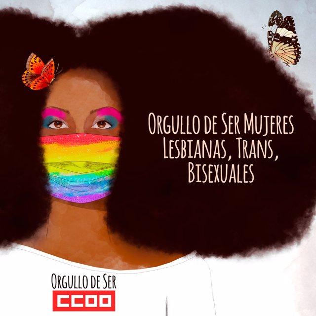 Cartel CCOO Día Orgullo.