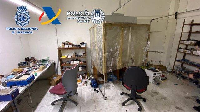 Imagen de uno de los talleres clandestinos desmantelados.