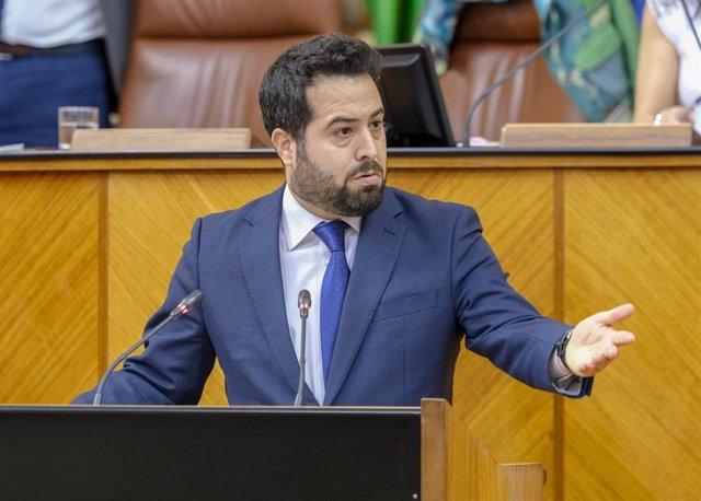 El portavoz adjunto de Cs en el Parlamento andaluz, Fran Carrillo.