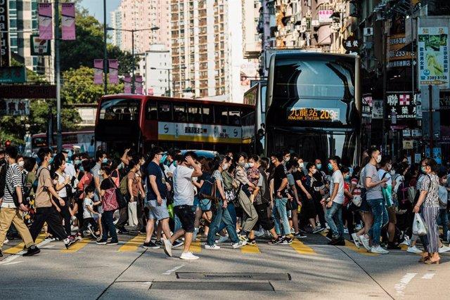 Imagen de una de las calles de Hong Kong tomada en mayo de este año.