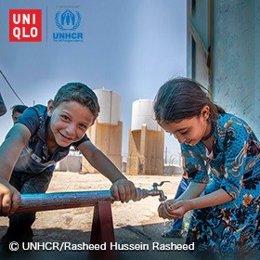 UNIQLO dona a ACNUR parte de las ventas online de la colección de bebé proteger a niños refugiados frente a la COVID-19