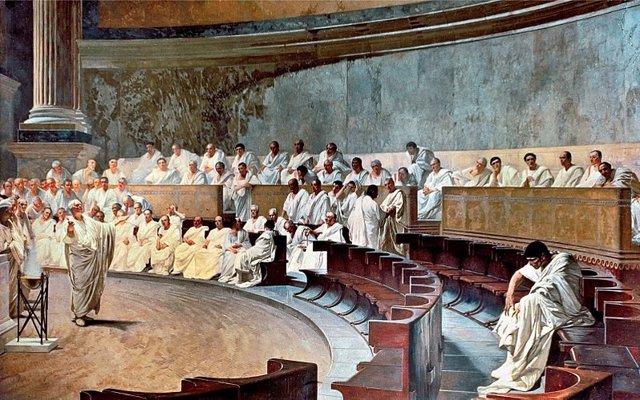 Intervención de Cicerón en el Senado de Roma