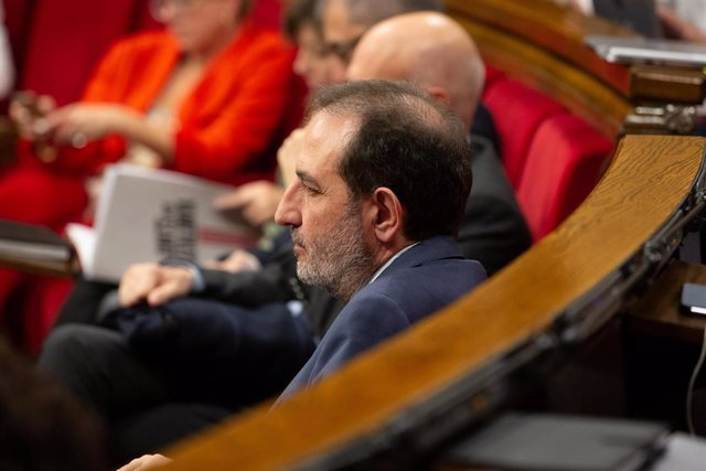 El diputado de Units per Avançar en el Parlament de Catalunya, Ramon Espadaler, durante una sesión plenaria.