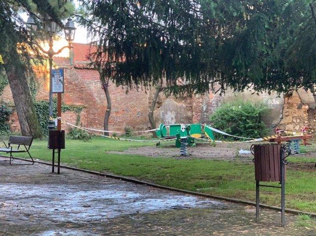 Parque del Cid en la ciudad de León.