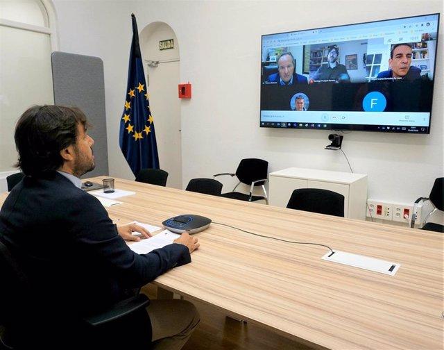 El consejero de Empleo, Investigación y Universidades, Miguel Motas, participa en el primer Foro de Empleo Virtual organizado por ENAE Business School, la Universidad de Murcia y la Universidad Politécnica de Cartagena