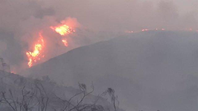 Incendio en Sierra Cabrera, en Almería