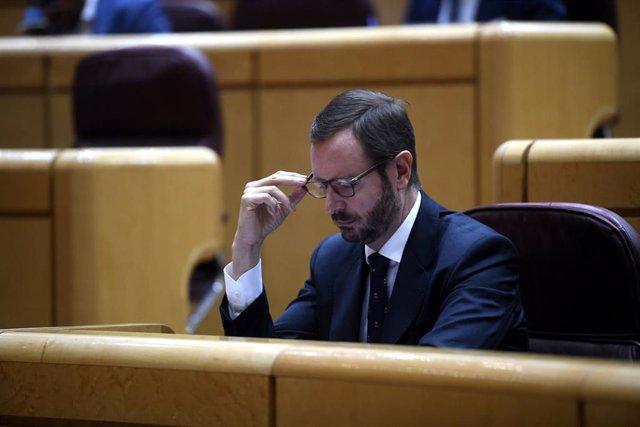 El portavoz del PP en el Senado, Javier Maroto.