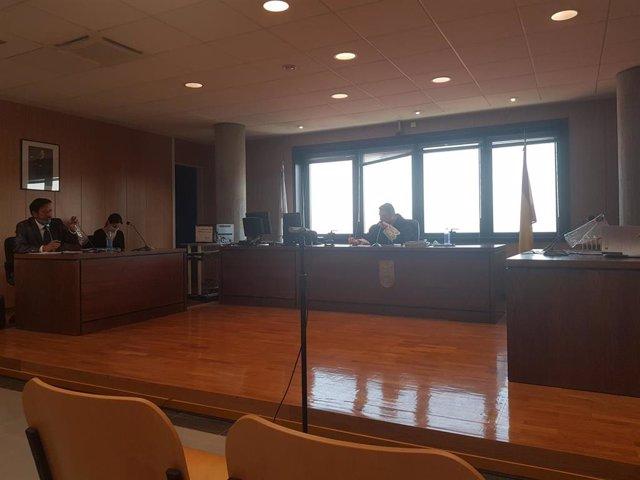 Sala de vistas del Juzgado de lo Contencioso número 1 de Vigo durante el juicio