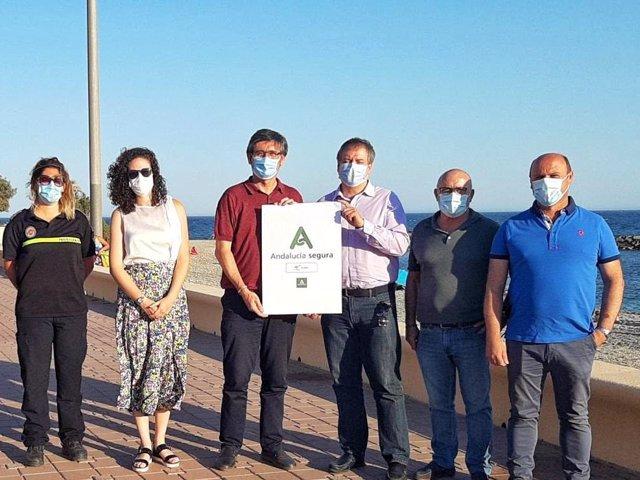 Las playas de Adra (Almería) obtiene su sello 'Andalucía Segura'