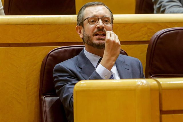 El portavoz del Grupo Popular en el Senado, Javier Maroto, durante un pleno en el Senado.