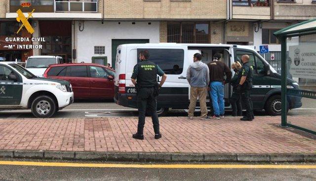 Detenciones en la operación Secuser