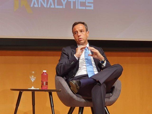 El director general de Grupo Hefame, Javier López, durante su intervención en el Foro