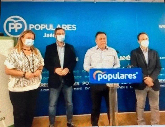 Rueda de prensa del PP de Jaén.