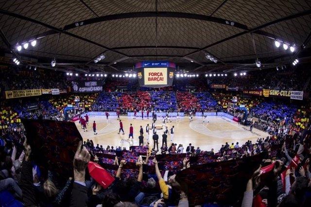 El Palau Blaugrana en día de partido