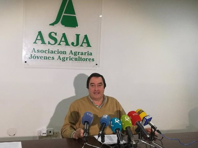 Ángel García Blanco, presidente de Asaja Extremadura, en una foto de archivo