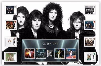 Queen, en una edición especial de sellos postales británicos