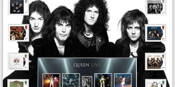 5. Queen, en una edición especial de sellos postales