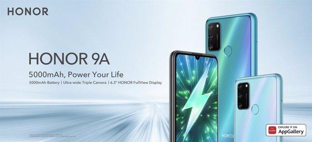 Honor lanza en España su nuevo 'smartphone' Honor 9A con batería de 5.000 mAh