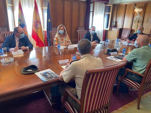 La delegada del Gobierno en Aragón, Pilar Alegría, ha visitado la capital turolense este martes.